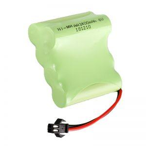 Батерија за полнење NiMH батерија AA2400 6V Алатки за електрични играчки за полнење Пакет за акумулатори