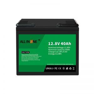 12.8V 40Ah LiFePO4 Замена на оловна киселина Литиум -јонска батерија 12V 40Ah