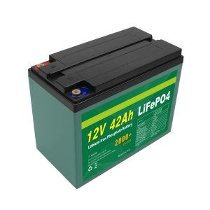Пакет батерии соларен 12v 40ah 42ah Lifepo4 Cell Lifepo4 со BMS за одржување