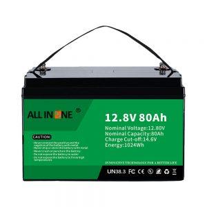 Најпопуларна замена на оловна киселина Solar RV Marine LiFePO4 12V 80Ah литиумска батерија