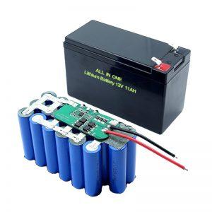 СИТЕ ВО ЕДНА 18650 3S5P 12 волтна литиумска батерија 11Ах пакет литиумска батерија на полнење