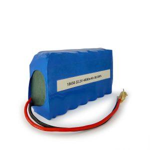 Прилагодена ICR18650 литиумска батерија 6S2P на полнење 22.2v 4000mAh Литиум јонска батерија