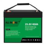 25,6V 40Ah литиум железо фосфат батерија/замена