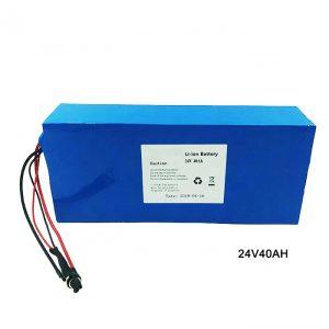 Електричен велосипедски велосипед 24 волтна литиумска батерија 24V 40Ah NMC Li јонско пакување батерија Батерија на полнење јонски литиум