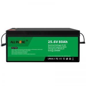 25.6V 80Ah безбедност/долг животен LFP батерија за RV/Caravan/UPS/Golf Cart 24V 80Ah