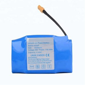 Најпопуларна продажба пакет литиумски батерии со 36v 4400mah 10s2p ховерборд