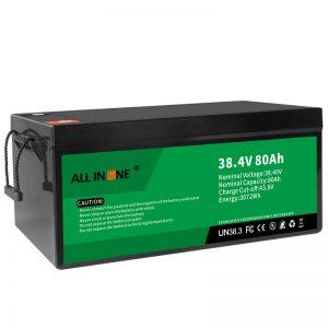 38,4V 80Ah LiFePO4 Замена на оловна киселина Литиум јонски батерии, 36V 80Ah