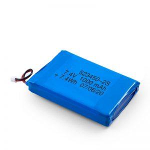 Батерија за полнење со LiPO 523450 3.7V 1000mAH / 7.4V 1000mAH / 3.7V 2000mAH