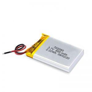 Кина на големо на големо 3.7V 600Mah 650Mah мини ли-полимер литиумски батерии батерии на полнење