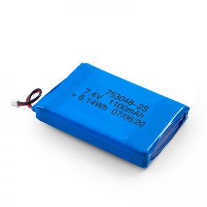 Батерија за полнење со LiPO батерија 753048 3.7V 1100mAh / 7,4V 1100mAH / 3.7V 2200mAH