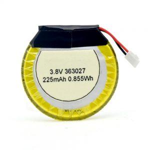 Прилагодена батерија за LiPO 363027 3.7V 225mAH
